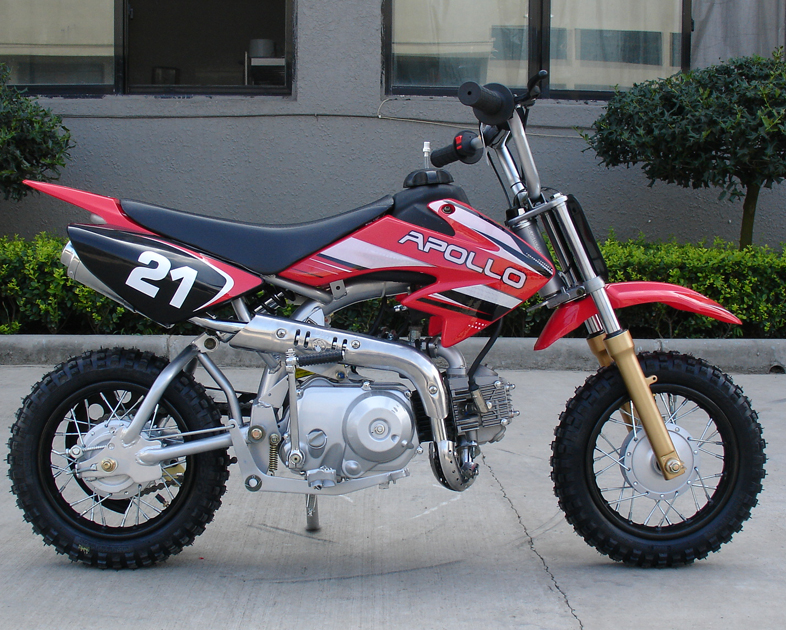 Apollo Dirt Bikes 70cc On Youtube Left side