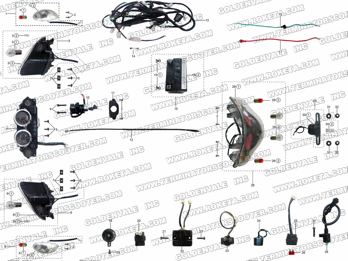 Roketa Mc 54 250 Wiring Diagram Car Diagrams Explained 110 Mc54 Rh Com For