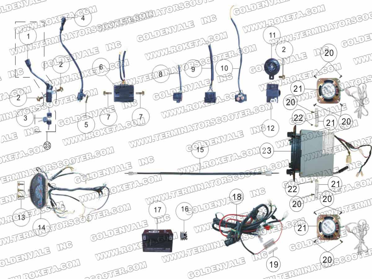 250 Cc Roketa Wiring Diagrams - Schematics Online Roketa Wiring Diagram on