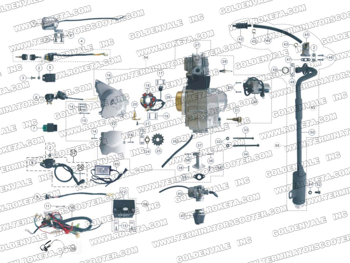 roketa atv wiring schematic roketa free engine image for user manual
