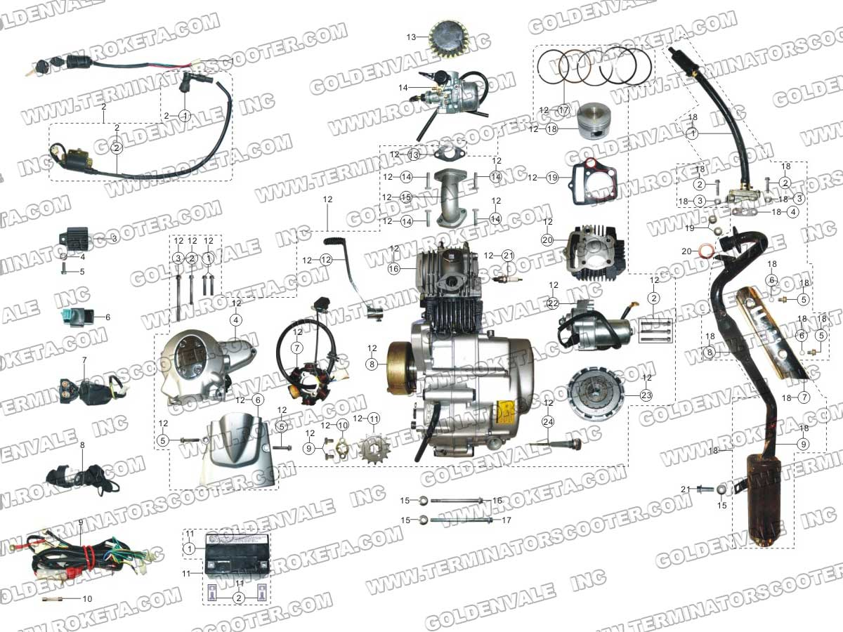 50cc Atv Wiring Harness Books Of Diagram Baja Roketa 250cc Parts Free Engine Image Gio