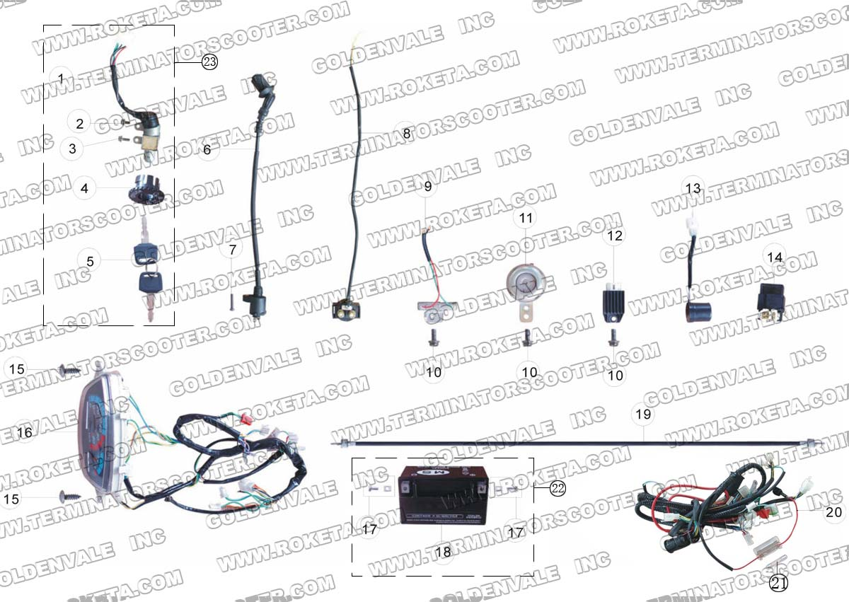 terminator scooter wiring diagram