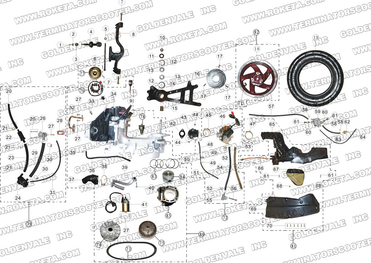 49cc Mini Harley Wiring Diagram And Engine Razor Electric Chopper Furthermore Moreover Scooter Apc