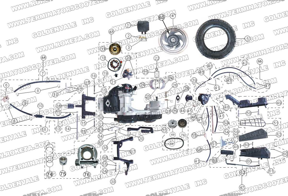 Terminator Scooter Wiring Harness Diagram Books Of Roketa 33