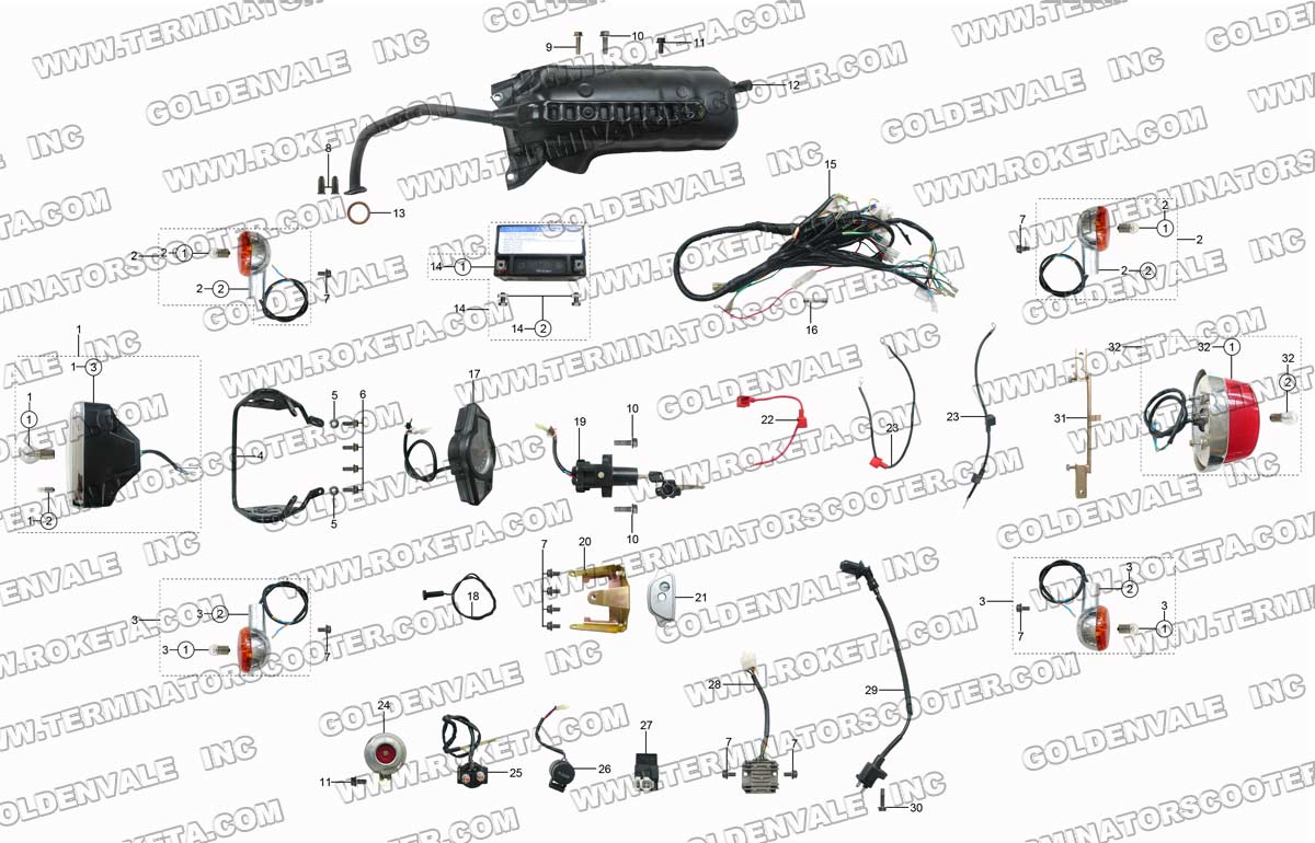 Roketa Dirt Bikes Wiring Diagram And Engine 49cc Bicycle Product Support On