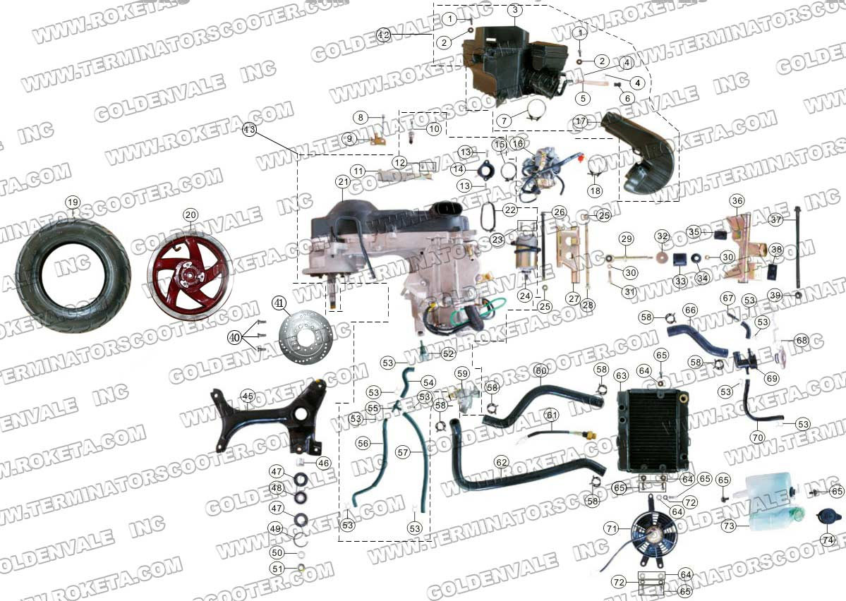 Roketa 250 Atv Engine Parts Diagram | Wiring Diagram And ...