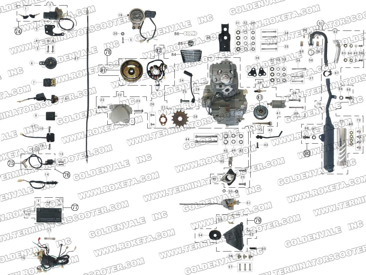 200cc motorcycle engine diagram