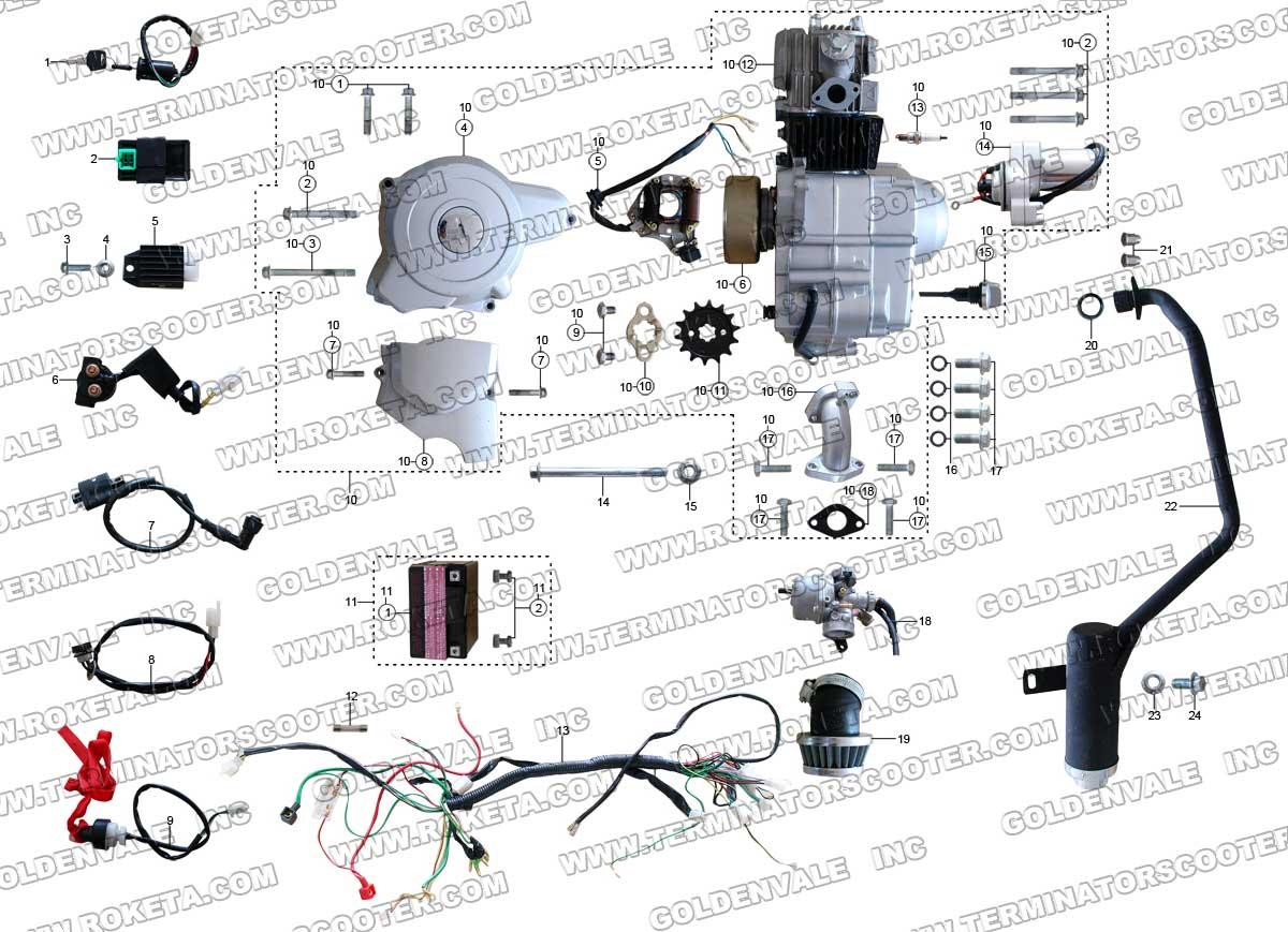 Chinese Atv Parts Diagram Detailed Schematics China Carburetor Wiring Roketa 110cc Auto Electrical Buyang