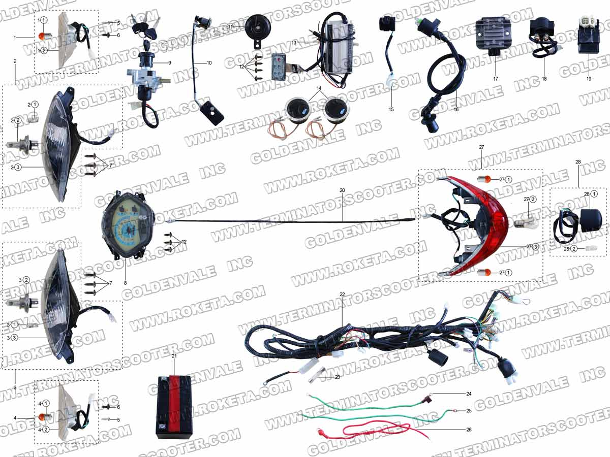Terminator Scooter Es 04 Wirering Diagram Trusted Wiring Similiar Keywords 3 Game Ps2