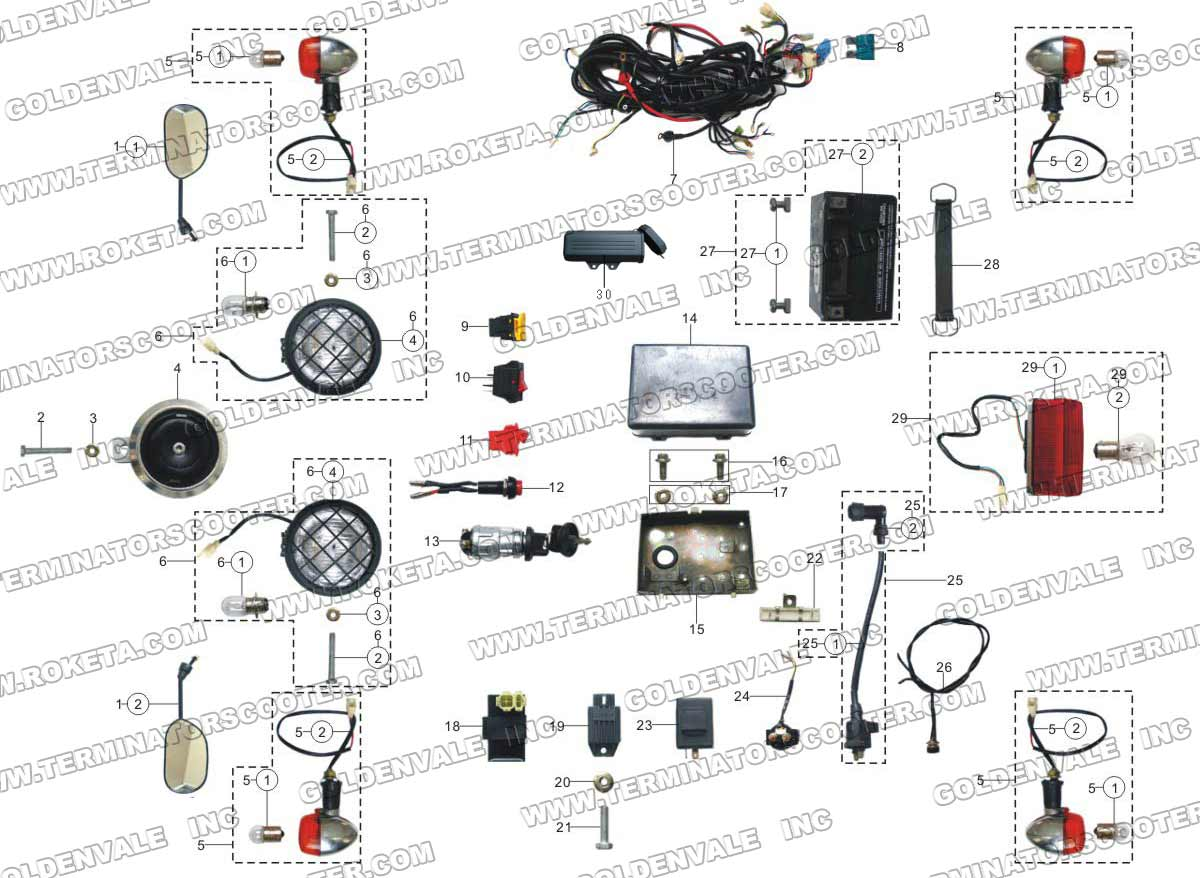 Roketa Gk 19 Wiring Diagram Schematics Diagrams 01 Free Engine Image For Buggy Wire