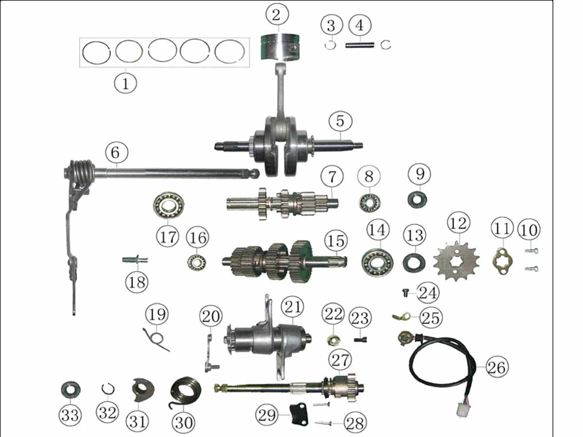 Product support on roketa clutch diagram