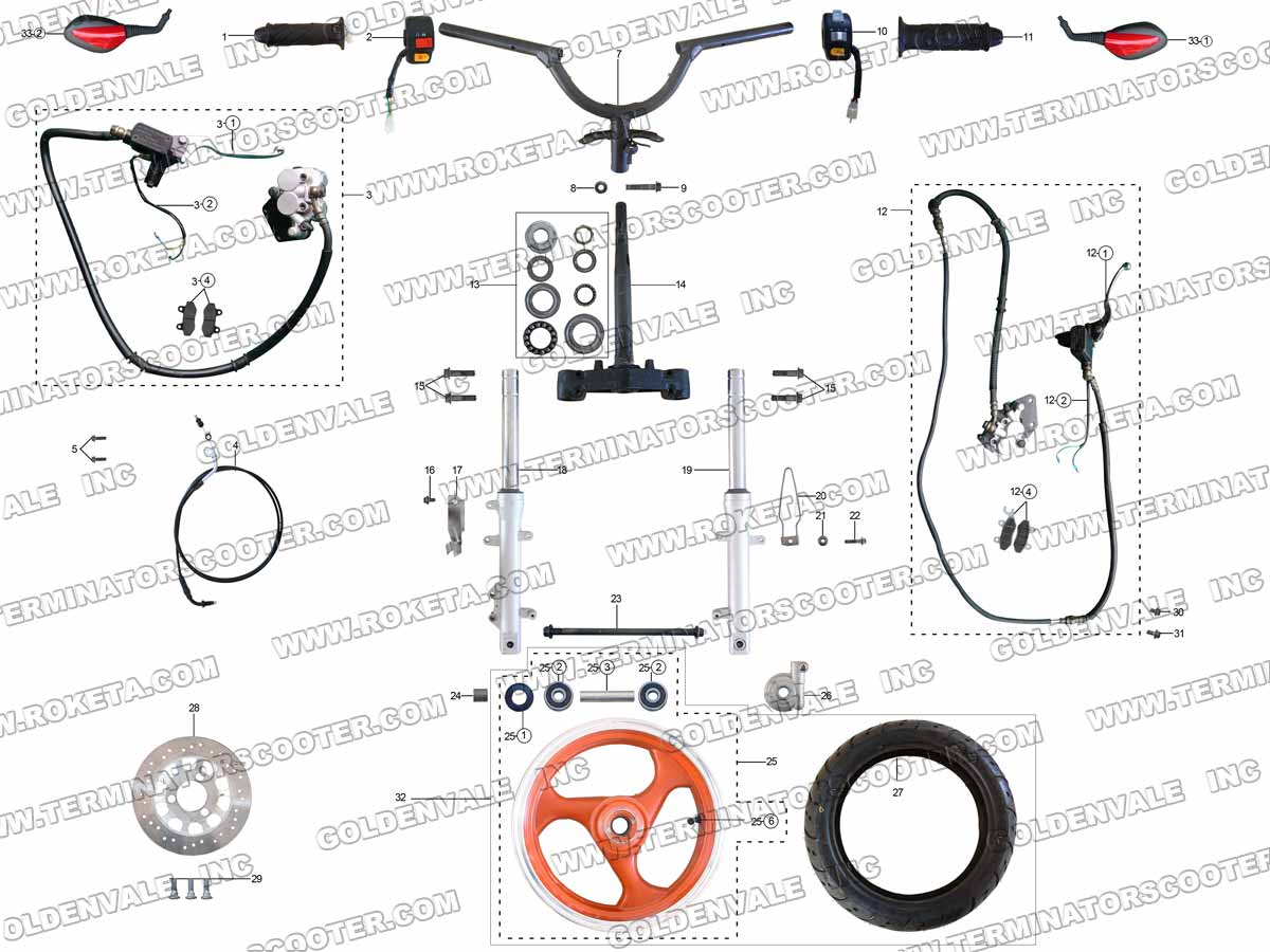 cat eye pocket bike wiring diagrams